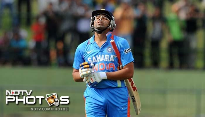 Rohit Sharma was bowled by Pradeep on 4. The Mumbai batsman took 13 runs from his five innings in the series.