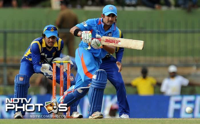 Gautam Gambhir in action against Sri Lanka. He scored 88.