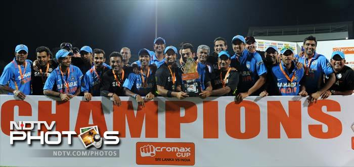 India eventually won the match with four overs to spare.