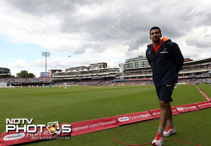 Zaheer could be seen patrolling the boundary and using the stationary cycle but doubts on his return kept the Indian camp in blues.