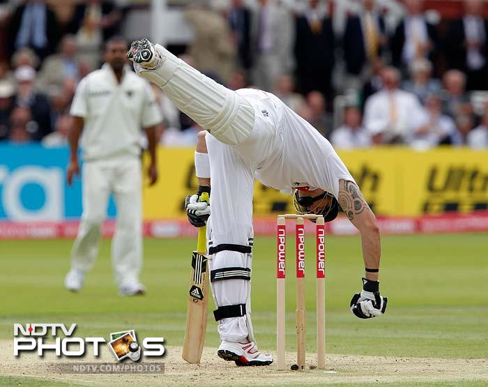 There was no getting Pietersen out although there were some close calls to raise India's hopes, only for them to shatter through each stroke to the boundary.