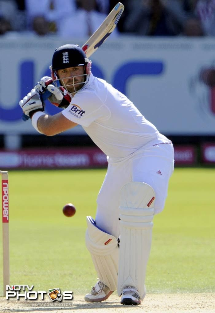 Matt Prior though, dug in to deny India any more success and ended the day on a personal score of 64 and with England leading by 374 runs.