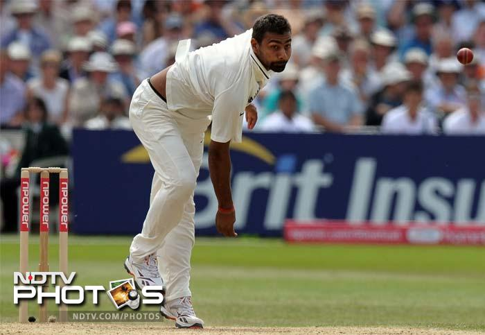 Praveen Kumar took the opportunity to knock back two more England wickets as he removed Eoin Morgan and Jonathon Trott.
