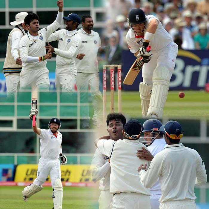One name shone bright on the third day. It was Ian Bell. For most parts of the day, the Indians were trying hard to get him out and when they did, they called him back to send him back again. Confused? Click on (AFP and AP images)
