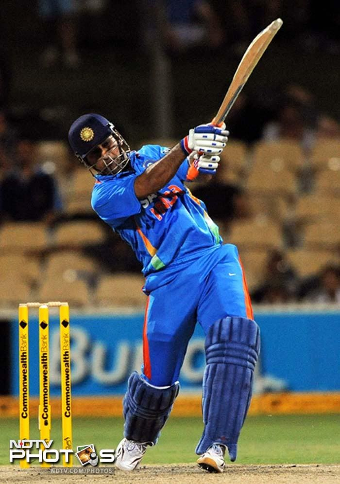 In the end, it was left to skipper MS Dhoni to power India's innings.