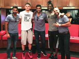 Indian Cricketers Up and Close With Miami Heat