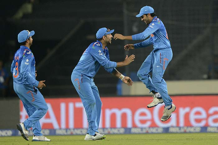 Eight out of the 10 wickets were as a result of India's spectacular fielding (seven catches and one run out).