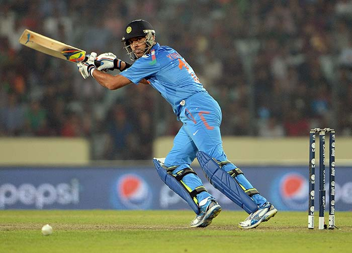 It was a day when India's flamboyant middle-order batsman Yuvraj Singh roared back to form (All images AFP).