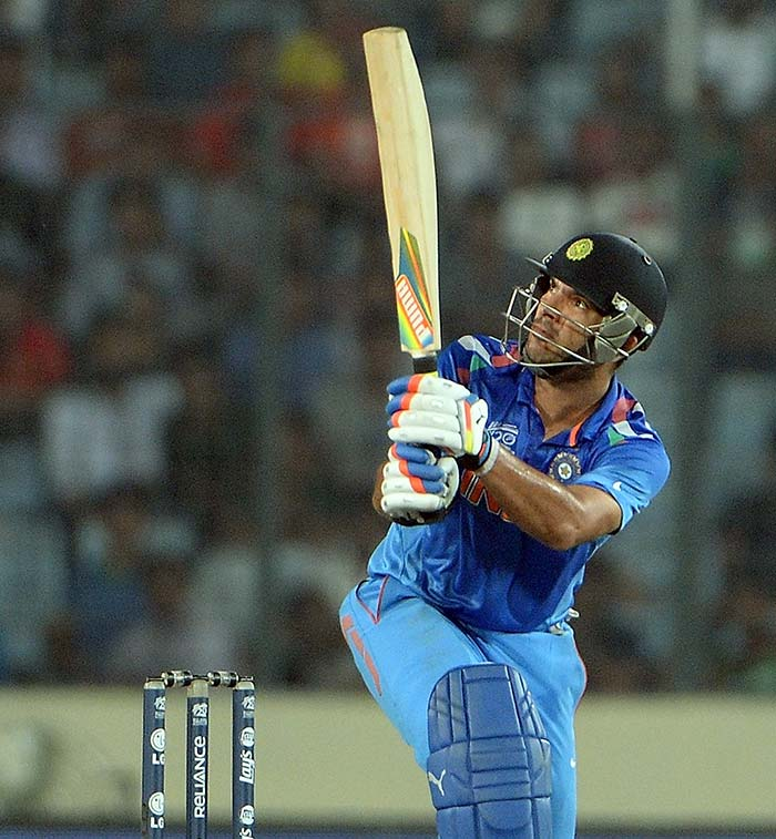 Yuvraj Singh's 60 off 43 balls did not just give him a much-needed improvement in form but also bailed India out of the early mess they were in, to post 159/7.