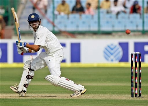 Gautam Gambhir bats during the first day of the third cricket Test match between India and Australia in New Delhi on Wednesday, October, 2008.