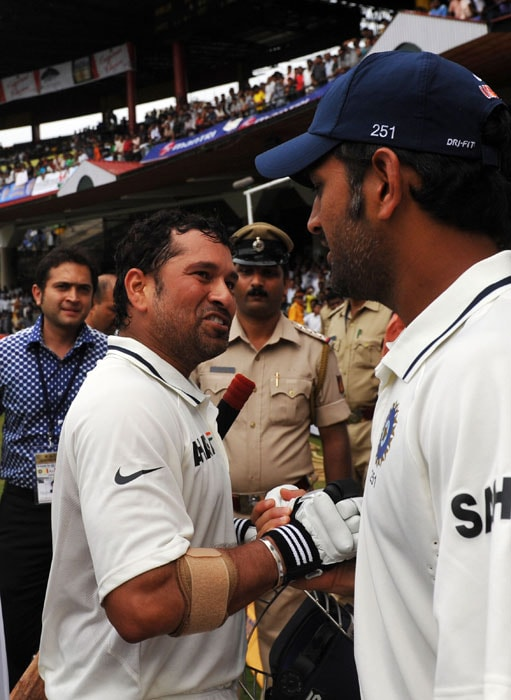Master Blaster Sachin Tendulkar played a crucial role in team's victory. He scored 403 runs in 2 Tests at average of 134.33.