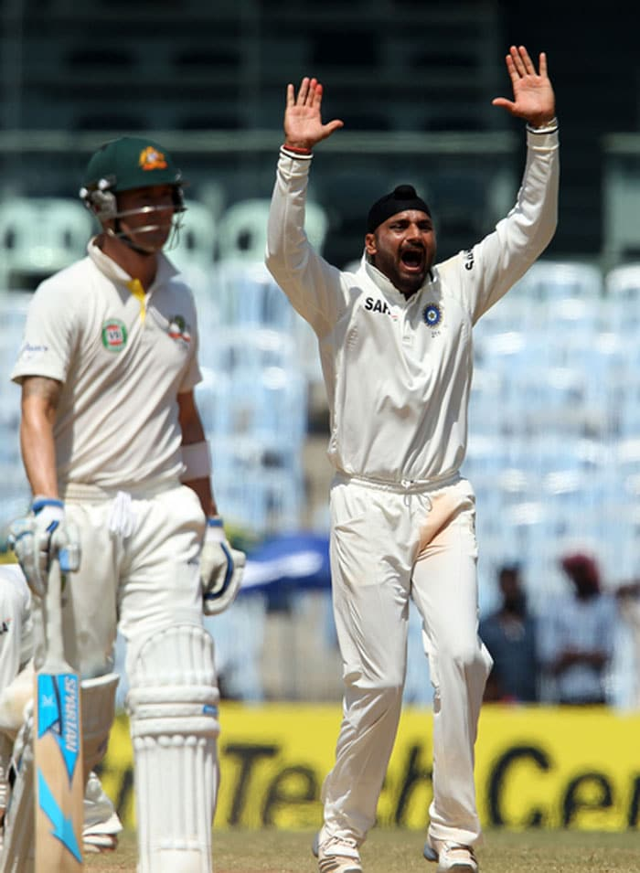 The turbanator would have been itching to perform on the 'dust-bowl' after a shoddy first innings performance. He looked in his elements in the second innings and Team India would be hopeful that his exploits continue. (Photo credit: BCCI)