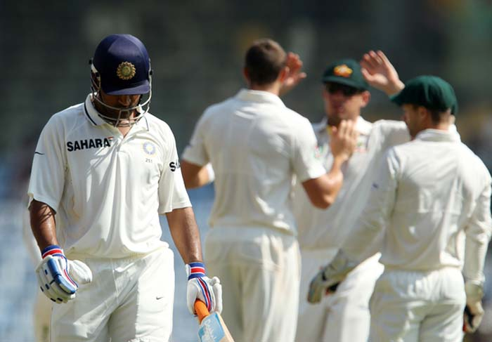 Skipper Mahendra Singh Dhoni could not add much to his overnight score but his maiden double century was enough to lift India to a mammoth 572 in their first innings on Day 4 of the first cricket Test against Australia at the M.A. Chidambaram Stadium on Monday. (Photo credit: BCCI)