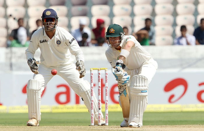 Skipper Michael Clarke kept his batting form intact even as others fell around him. His batting was a mixed bag of staunch defence and calculated attack. He even hit Ashwin for a beautiful six straight down the ground. (Photo credit: BCCI)