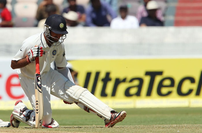 Pujara was struggling with his knee after a bad fall in the first session but did not budge when it came to defending staunchly. He hit his fourth Test hundred along with a single fifty in Tests to guide India. (Photo credit: BCCI)