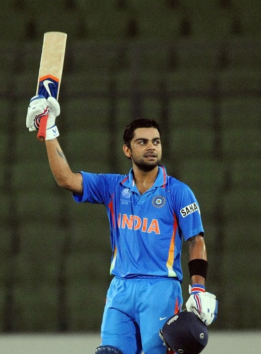 Virat Kohli raced to his fifth hundred off just 83 balls in his first World Cup match. (AFP Photo)