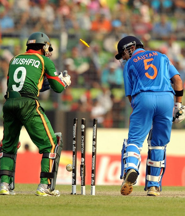 Gautam Gambhir's started well but could not carry on and he was bowled by Mahmadullah. (AFP Photo)