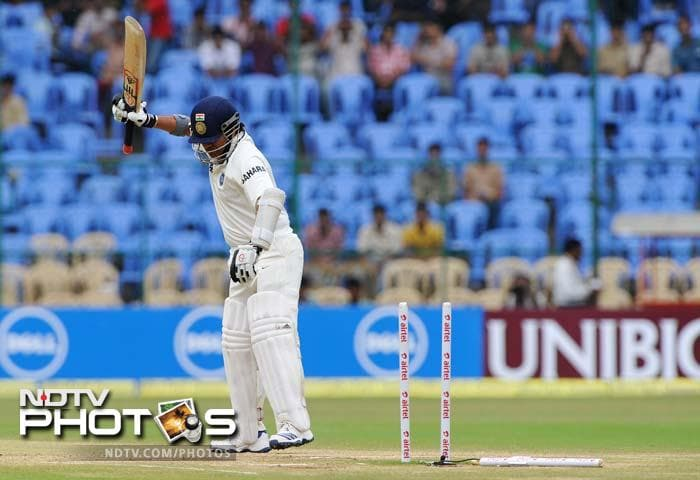 It's not everyday that you find the Master Blaster leaving the field, frustrated. But with the ever-widening gap between his bat and pad, Tendulkar has every reason to be annoyed with himself.