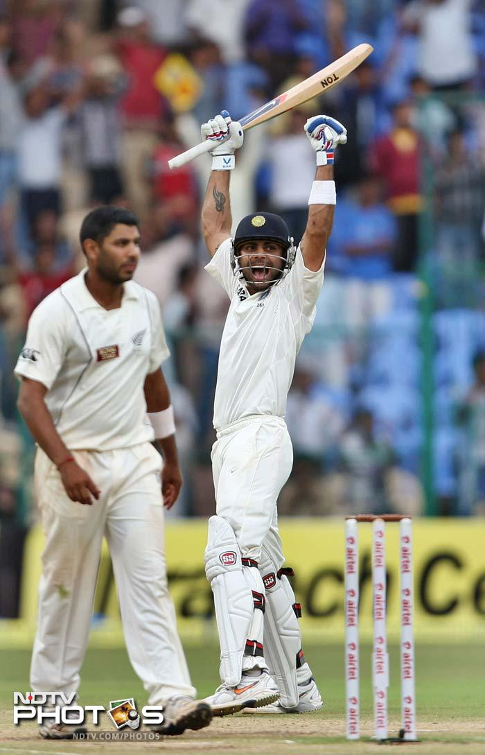 Virat Kohli was named the Man of the Match. He doubled up his first-innings century with a match-winning 51 in the second.