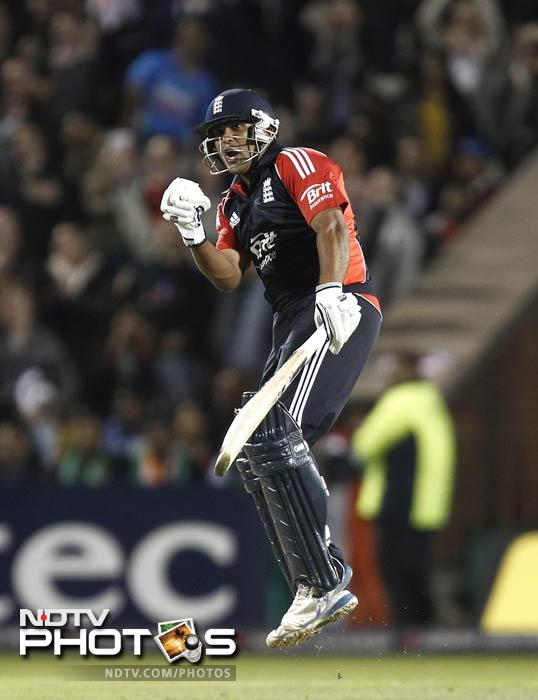 Samit Patel and Ravi Bopara carried the English ship home as England registered a win comfortable by T20 standards.