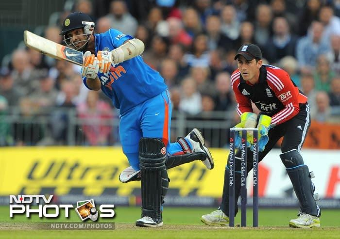 Rahane scored 61 runs to become the first batsman to score a fifty on debut. (AFP Photo)