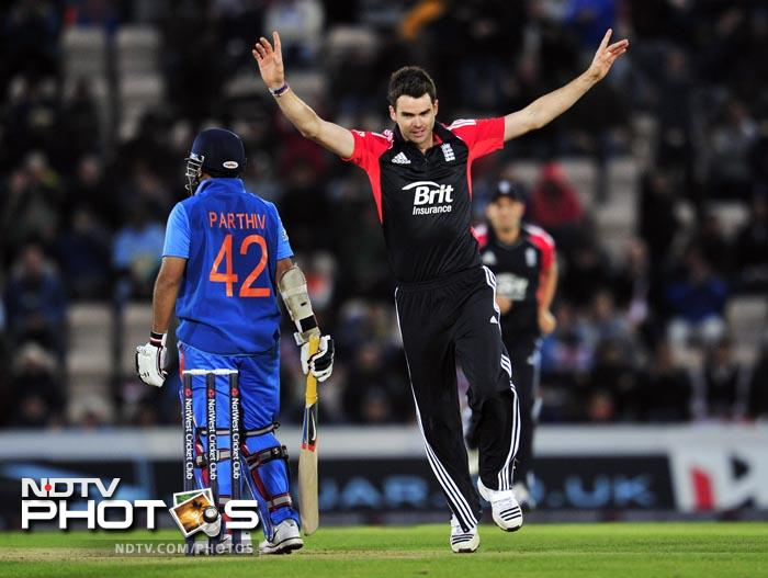 Hot Spot once again failed to detect an edge when Parthiv Patel was dismissed, caught behind off a James Anderson delivery in the 4th over. (AFP Photo)