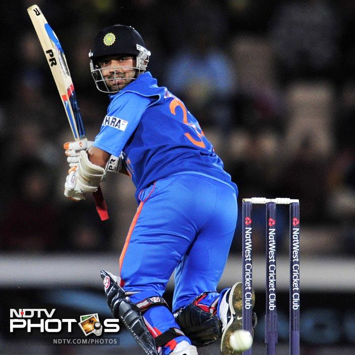 Rahane hit his maiden ODI fifty in only his 2nd ODI. (AFP Photo)