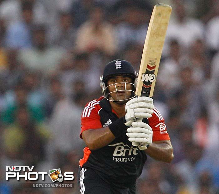 Patel's lusty hitting in the end overs boosted England's run-rate. His 70 runs off 43 balls knock was the main reason England managed to notch up 298.