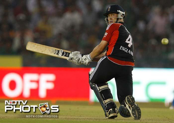 Trott anchored England's innings but struggled to score the big hits even in the slog overs. He only had himself to blame for being left stranded on an unbeaten 98 off 116 balls.