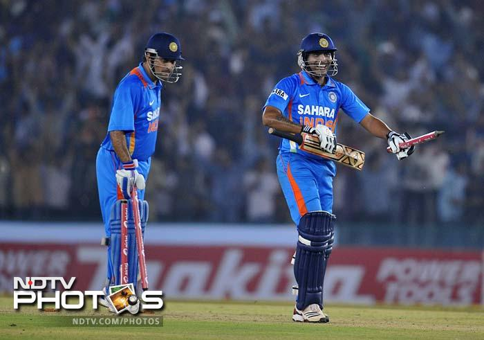 Dhoni was well supported by all-rounder Ravindra Jadeja, who slammed an unbeaten 26 off 24.