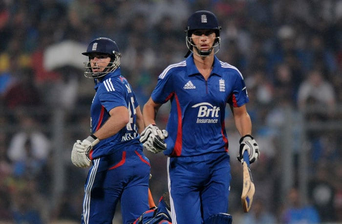 It all started brightly for the three lions with a 80-run opening partnership between Michael Lumb and first match hero Alex Hales. Lumb completed his first fifty in international T20 while Hales got a solid 42 before Yuvraj Singh bowled India into the match yet again. (Photo credit: BCCI)