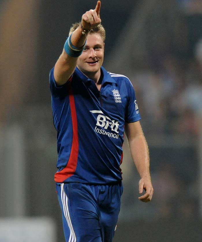 Luke Wright got the rid of Gambhir and Yuvraj Singh in quick succession to give India the blues. (Photo credit: BCCI)