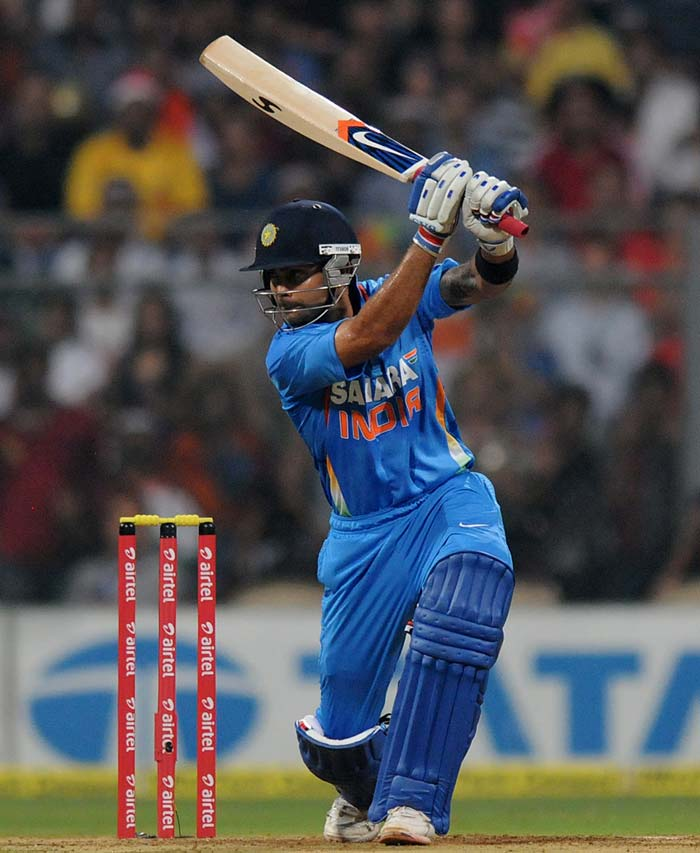 Virat Kohli joined Gambhir after Rahane's dismissal and looked in prime form right from the beginning. His 38 from 20 balls gave the Men in Blue the right momentum after the initial jolt. (Photo credit: BCCI)