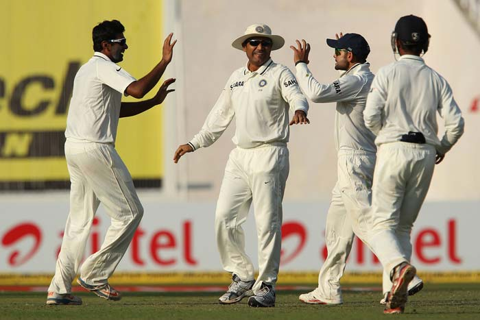 India's spin twin was in prime form and although it took 13.3 overs to get Ashwin his and India's first wicket in the form of Nick Compton, it was worth the wait. A flurry of wickets was to ensue to end a enthralling day, at least for Indian fans. England finished at 41/3. Ashwin took two, Ojha got one. (Photo credit: BCCI)