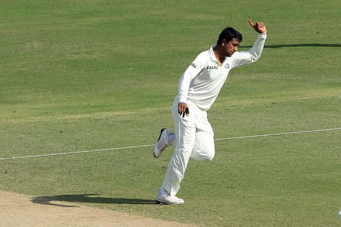 It was all about Indian spinners for large parts of the third day. Pragyan Ojha was definitely the pick of all the bowlers on show although R Ashwin did bowl with guile on occasions but was ordinary on others. (Photo credit: BCCI)