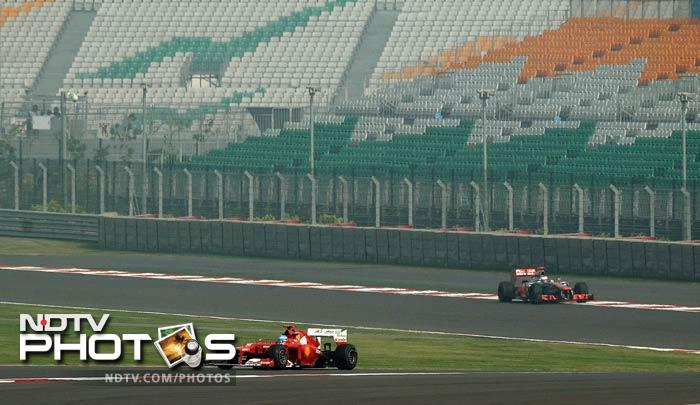 Ferrari did not allow the flag controversy to affect their game as Fernando Alonso came in third narrowly missing out on the two Red Bull drivers in the front.