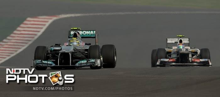 Michael Schumacher could not get into the top ten as he ended up in thirteenth place however Nico Rosberg took the fourth spot to give Mercedes something to write home about.