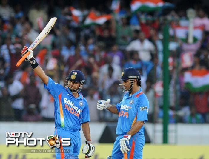 Raina put on a 44-run stand with Virat Kohli and then added 72 runs with captain Dhoni. India had scored 195/5 in 38.5 overs at a run-rate of 5 by the time Raina departed on 61 off 55 balls.