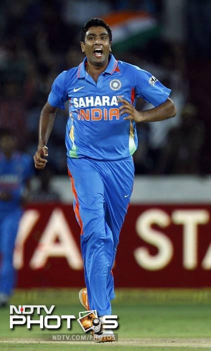 Ashwin also bagged 3 wickets, including the final wicket of Jade Dernbach that sealed India's mammoth victory. His other victims were Ravi Bopara and Tim Bresnan.
