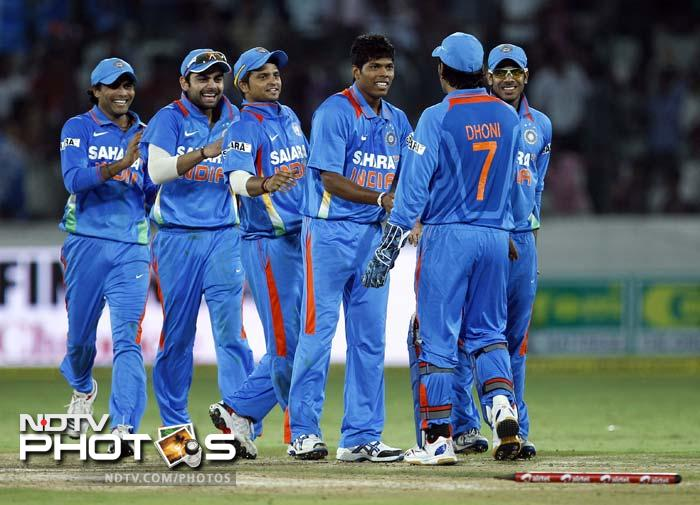 After becoming the whipping boys in England, India returned the favour at home with their big victory in the first ODI. Captain MS Dhoni laid the platform and the spinners cashed in. Here's a look at the players who helped break India's losing streak against England, leading the team to a 126-run win.