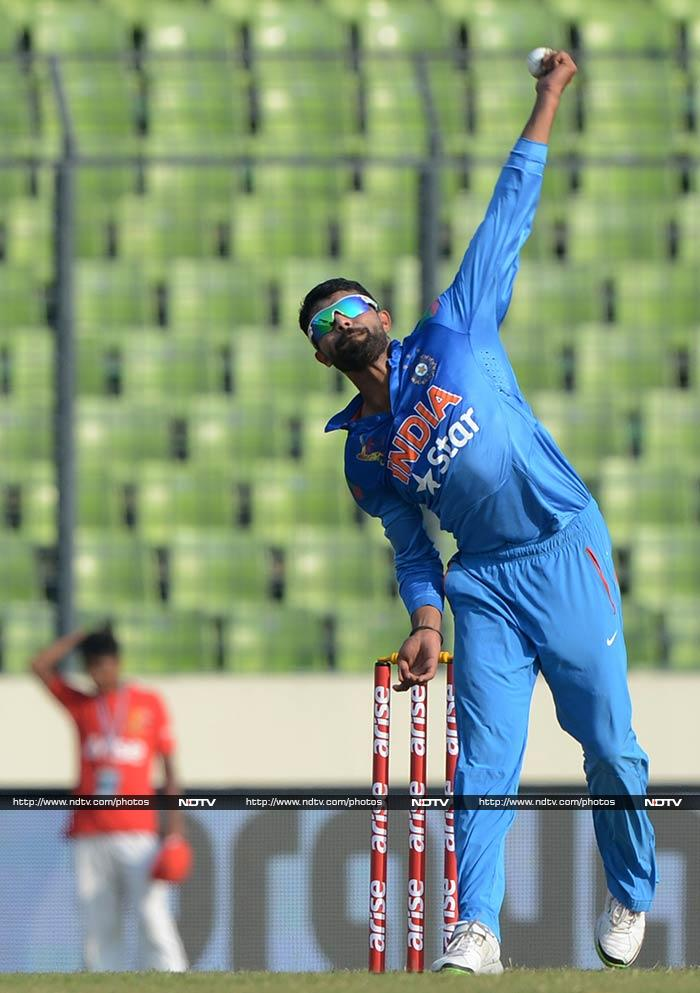Ravindra Jadeja's spin was responsible for 'terrorising' Afghanistan batsmen as the spinner claimed four wickets to dismantle the team.