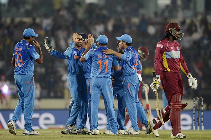 Indian seamers and spinners combined well to counter the negative impact. Gayle was eventually run out by Mohammad Shami. He scored 34 off 33.