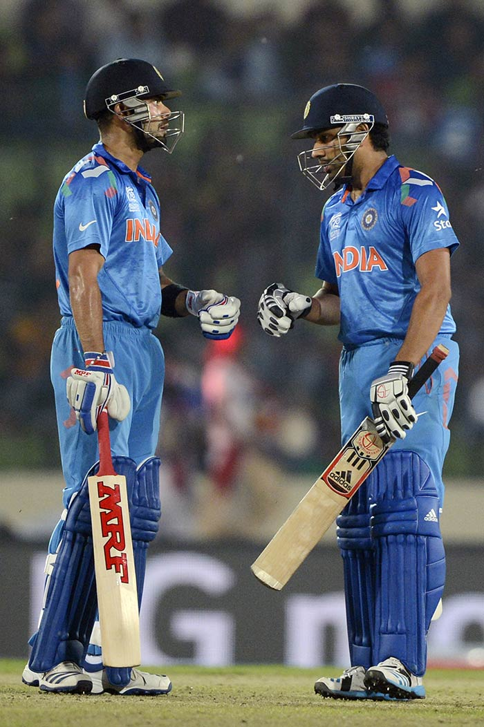 Virat Kohli (54) and Rohit Sharma (62*) combined though to ensure that India cruised to the target.