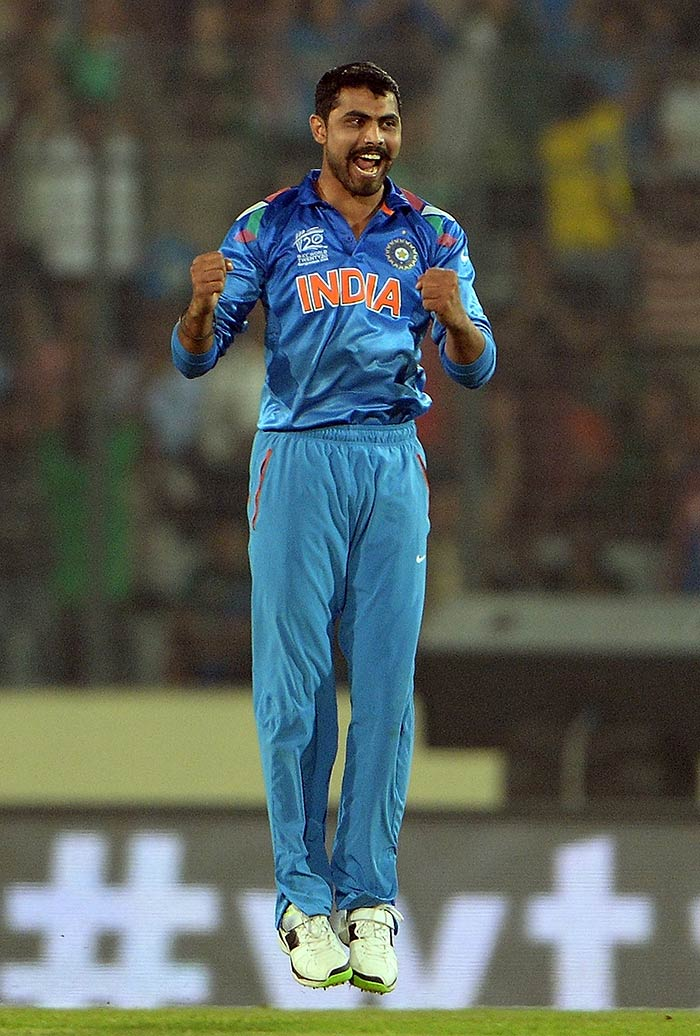 Jadeja was the first among the spinners to strike. He dismissed skipper Mohammad Hafeez on 15.