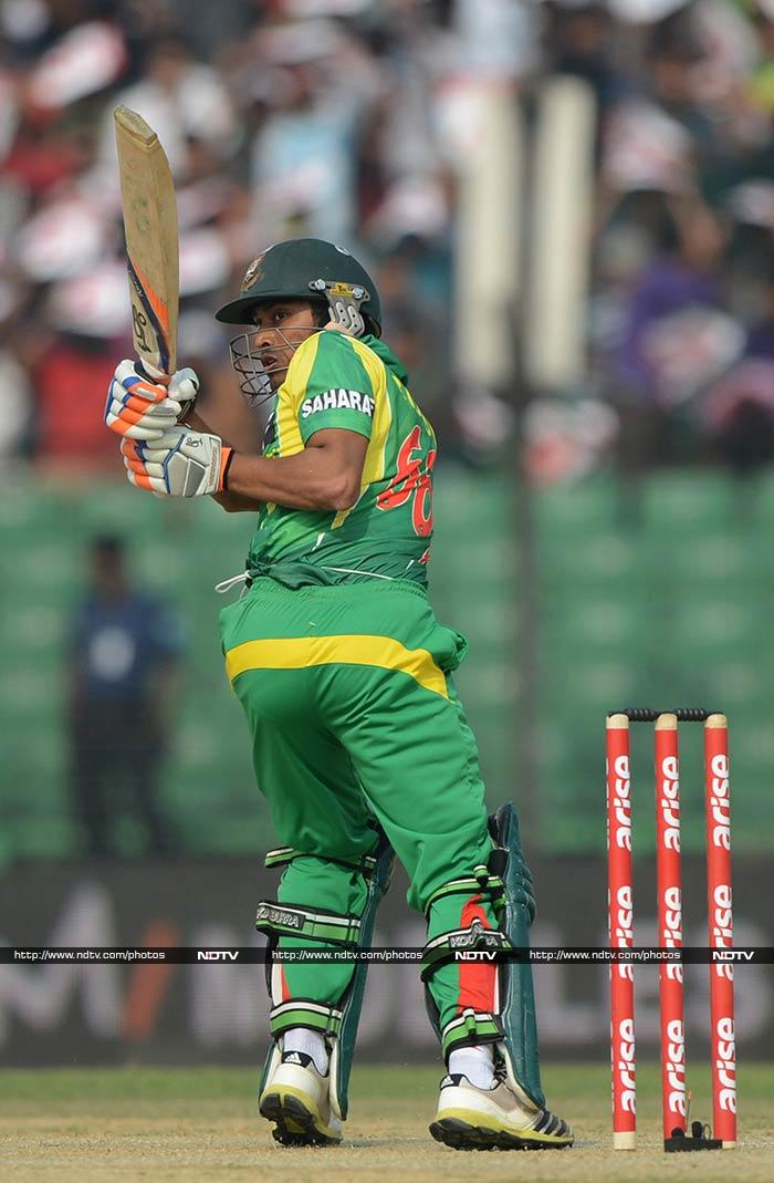 Rahim was well supported by Anamul Haque who hit 77 as the two innings helped the hosts reach a strong total of 279/7 despite Mohammad Shami's four-wicket haul. <br><br>In the end though, it proved to be just a little less than what would have helped the side win.