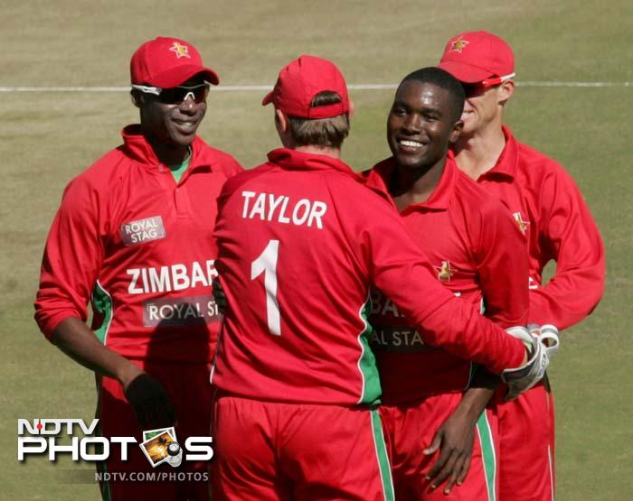 Chigumbura returned to deliver with the ball and was responsible for packing off Rohit Sharma (20 off 40).