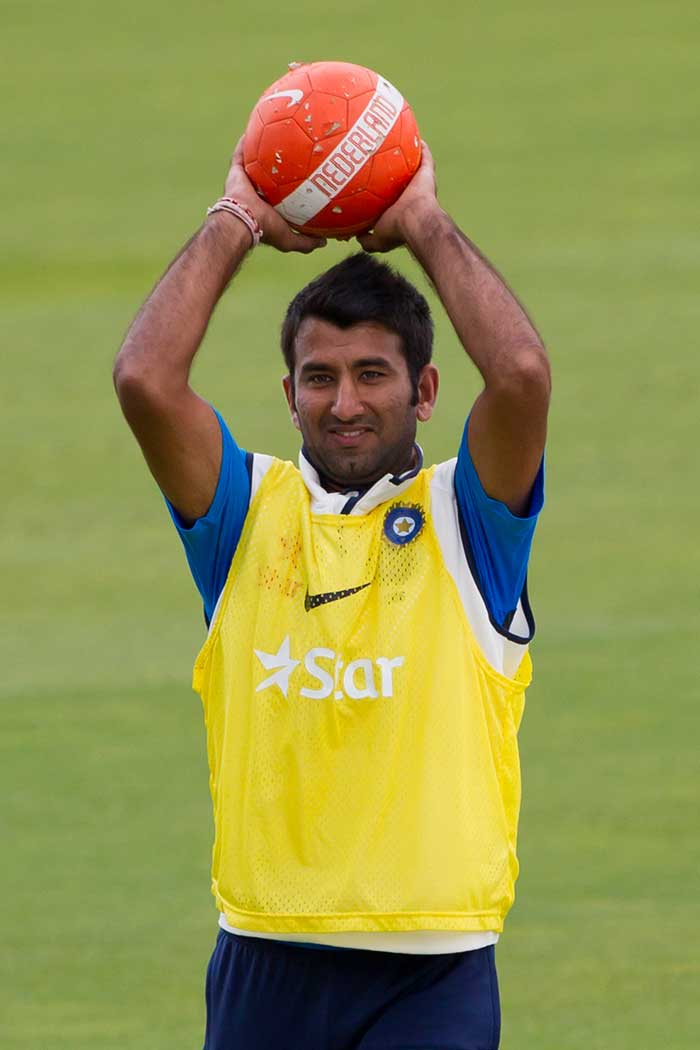 Cheteshwar Pujara will also have to play to his potential when he comes to bat at number three.