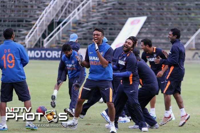 The Indian team recently won the Champions Trophy in England and followed it up with a win in the tri-series in West Indies. <br><br>With young guns eager to prove their abilities against Zimbabwe, the mood in the camp appears jovial.