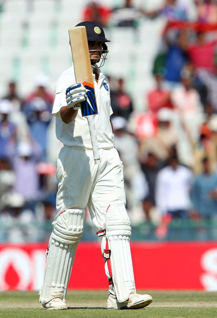 Virat Kohli's sixth fifty in Tests guided India to a respectable lead on Day 4 against Australia in Mohali. His unbeaten knock was laced with 7 fours and a six. (BCCI image)