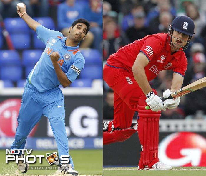 To discount and underestimate England's batting would be a big mistake. To dismiss Bhuvneshwar Kumar too would be a blunder of equal proportions, if not more.<br><br>England skipper Alastair Cook has been solid at the top with 159 runs from 4 innings at an average of 39.75. He however will have to deal with Bhuvneshwar from the word go and it won't be easy.<br><br>The lanky Indian seamer has made the most of the English conditions and has six wickets and a miserly economy of 3.68 to show for his efforts. Not perturbed by matches where stakes are high, Bhuvneshwar will hope to claim early wickets against England - an intent which Cook will look to blunt with his maturity and talent.